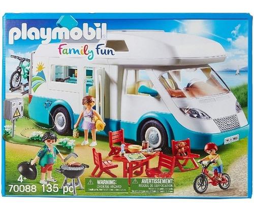 Imagen 1 de 10 de Playmobil Family Fun 70088 Caravana De Verano Campamento Edu