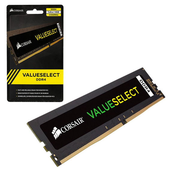 Memoria Pc Corsair Value Select 8gb 1x8gb Ddr4 2400mhz 1.2v