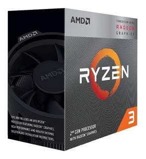 Procesador Amd Ryzen 3 3200g 4 Cores Soc Am4 4.0ghz Vega 8