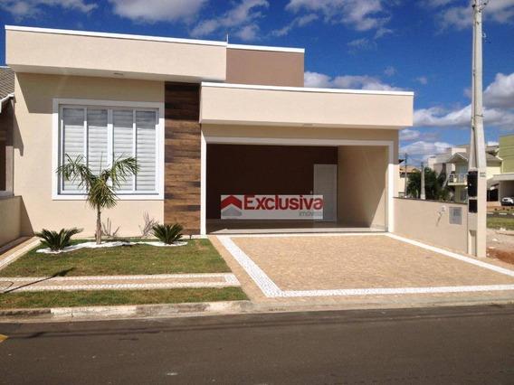 Casa Com 3 Dormitórios À Venda, 176 M² Por R$ 750.000 - Condomínio Terras Do Fontanário - Paulínia/sp - Ca1596