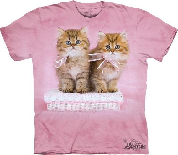 Playera 4d - Unisex Infantiles - 8173 Pretty Kittens.