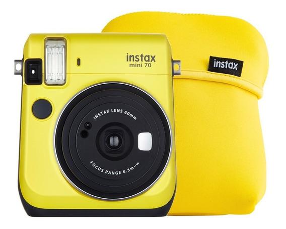 Cámara Instantánea Fujifilm Instax Mini 70 Amarilo Más Funda