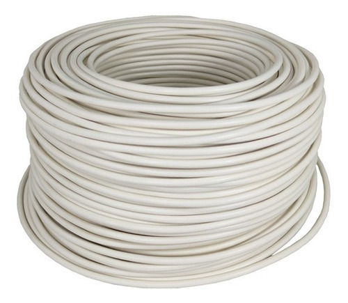 Imagen 1 de 3 de Cable Eléctrico Cca Calibre 8 Alucobre 50m Unipolar Blanco