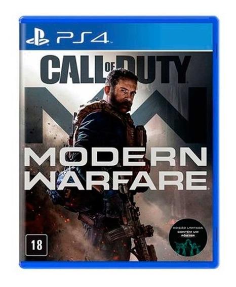 Call Of Duty Mw Modern Warfare Jogo Ps4 Com Poster
