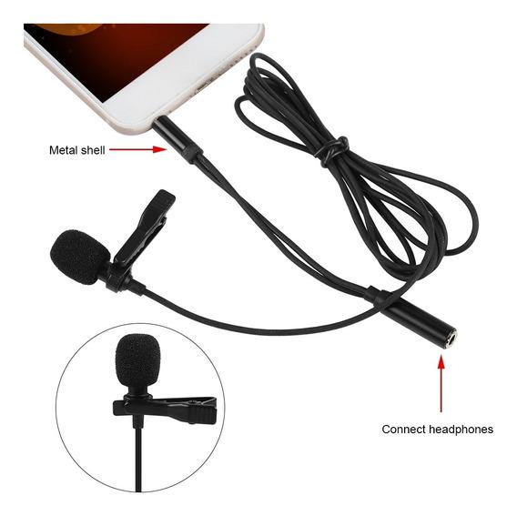 Clipe De Lavalier Em Lapela Condensador Hifi Microfone Para