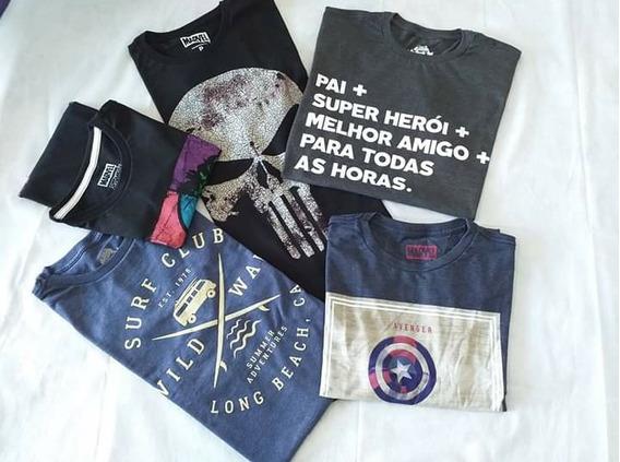 Kit 5 Camisetas Masculinas