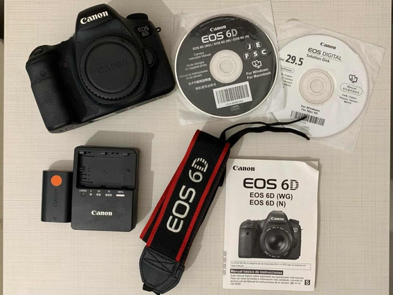 Câmera Canon 6d - Dslr Full Frame - Revisada, Perfeita