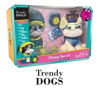 Peluche De Perro Trendy Dogs Issey Set Para Dormir Original