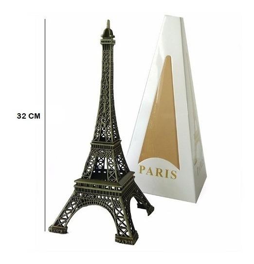 Promoção - Miniatura Torre Eiffel Paris 32cm Metal Decoração