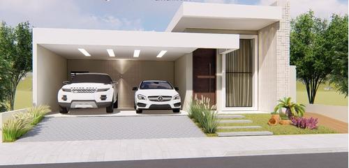 Imagem 1 de 6 de Planta De Casa 3 Quartos - Projeto Arquitetônico Completo