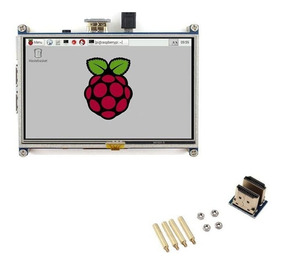 Display Lcd 5 Touch Screen Raspberry Pi 3 Pi3 + Case - 12x