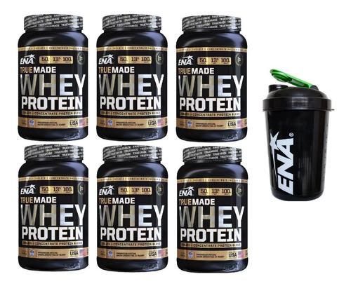 Whey Protein True Made De 1kg Por 6 Unidades+vaso Shaker
