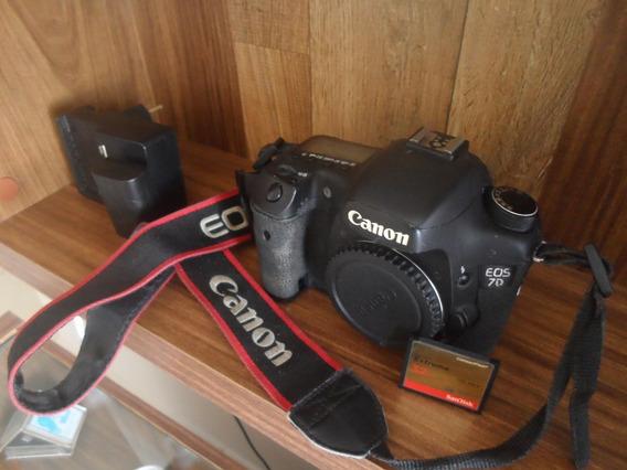 Canon 7d ( Corpo + Cartão + Baterias E Carregador)