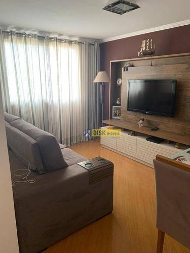 Apartamento Com 2 Dormitórios À Venda, 55 M² Por R$ 225.000,00 - Santa Terezinha - São Bernardo Do Campo/sp - Ap2031