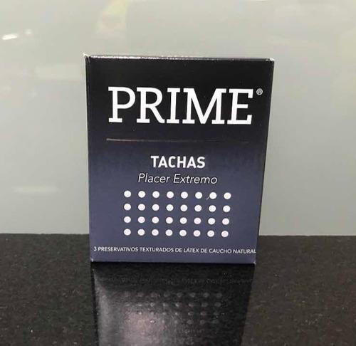 Preservativos Prime Tachas, 12 Cajas Con 3 Unidades C/u