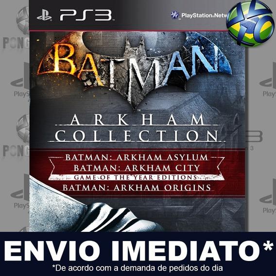 Batman Arkham Collection Ps3 Psn Jogo Em Promoção Play 3