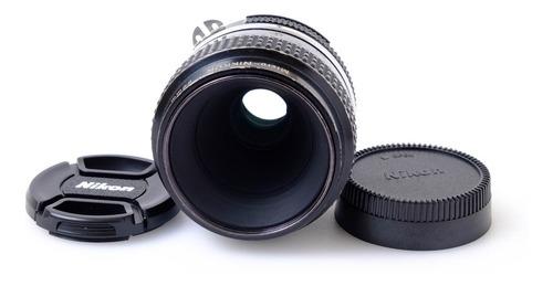 Lente Nikon Ai 55mm F/3.5 Micro - Não Faz Foco Automático