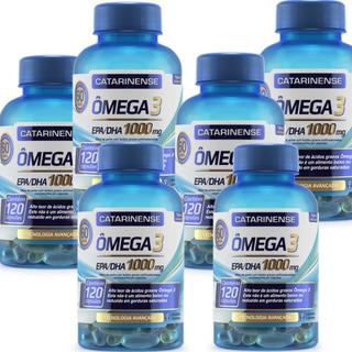 6 Omega 3 Catarinense 1000mg Original C120 Caps +brinde