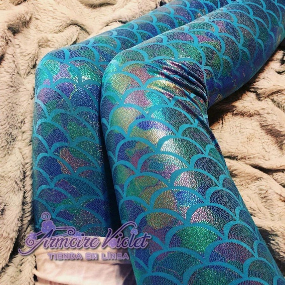 Leggings Sirena Tornasol Colores Pastel Original