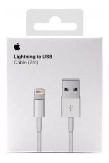 Cable Cargador Original Usb Lighting iPhone 2 Metros