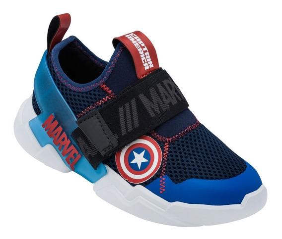 Tênis Infantil Masculino Marvel Grendene Kids Azul