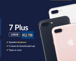 iPhone 7 Plus - 128gb - Seminovo