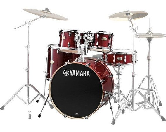 Bateria Yamaha Stage Custom Sbp2f5 5 Peças Shell Pack Red