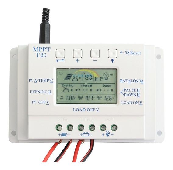 Controlador De Carga Mppt 20a - 12/24v Solar - Nota Fiscal