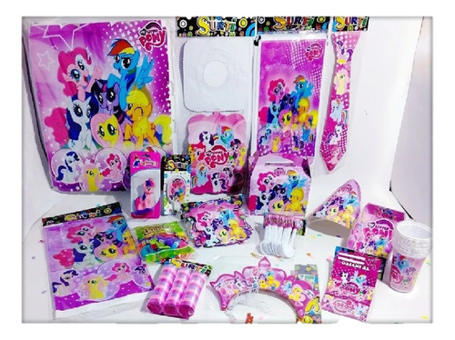 Kit Decoración Infantil Mujer My Little Pony 24 Invitados
