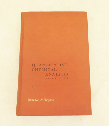 Livro Quantitative Chemical Analysis - Hamilton & Simpson