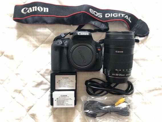 Câmera Cânon Eos Rebel T3i + 18-13mm