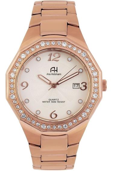 Relógio Ana Hickmann Ah20033z Rose Barato Original