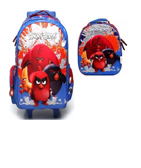 Kit Mochilete + Lancheira Angry Birds 800702 - Original