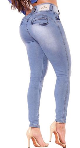 Imagem 1 de 2 de Calça Jeans Feminina Levanta E Modela  Bumbum Cintura Média Maravilhosa