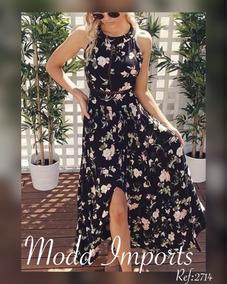 d1a5c3c23d Vestido Longo Floral Importado - Vestidos Longos Femininas no ...