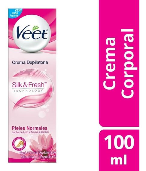Veet Crema Depilatoria Corporal 100ml Silk&fresh Piel Normal
