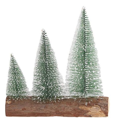 Imagen 1 de 7 de Preferencias De Tabla Led Mini Árbol De Navidad Triple