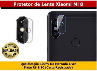 Pelicula Protetor Lente Xiaomi Mi 8 - 100% Vidro