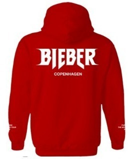 Sudadera Red Staff Justin Bieber Purpose Tour Hoddie