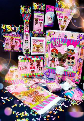 Kit Decoración Piñata Fiesta Infantil Lol Cumpleaños
