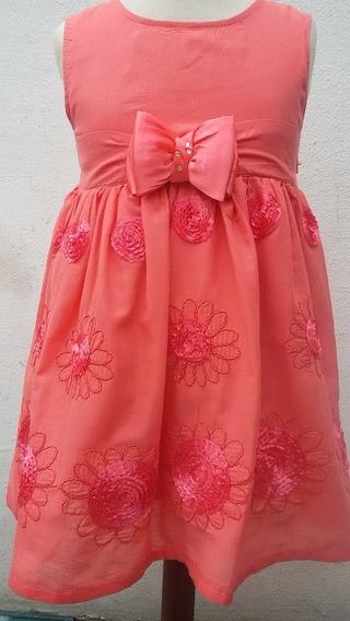 Vestido De Nena De Fiesta Bordado