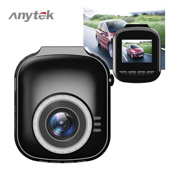 Anytek G1 Wide Angle Car Camera Recorder Preto