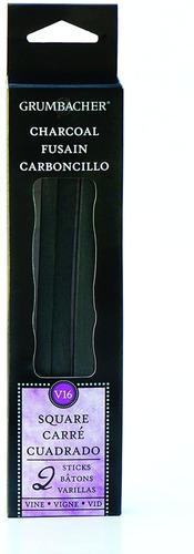 Imagen 1 de 2 de Grumbacher Square Viña, 2unidades, Carbon Vegetal, Grado