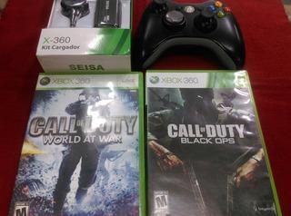 Xbox360 Mandó+ Batería+ 2 Juegos