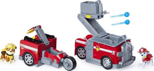 Paw Patrol Carro Bomberos Transformer 2en1 Marshall + Rubble