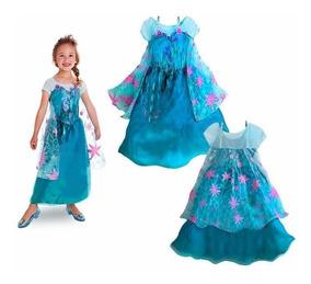 Novo Vestido Fantasia Infantil Elsa / Anna - Pronta Entrega