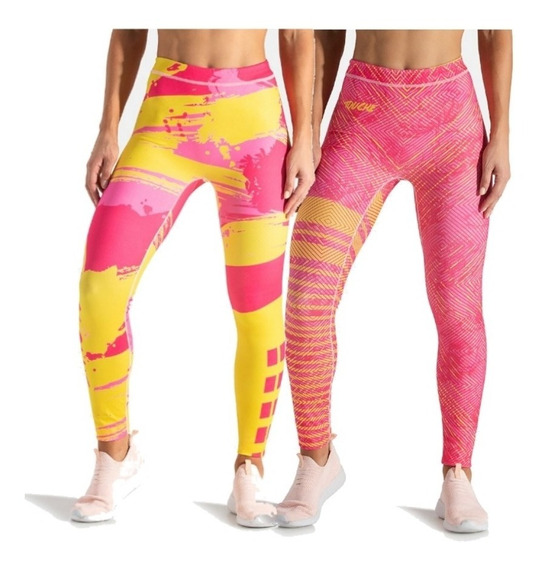 Calzas Touche Sport Deportivas Mujer Lycra Reversible Rr 11