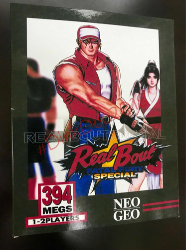 Caixa Realbout Fatal Fury Special Neo Geo Aes/mvs