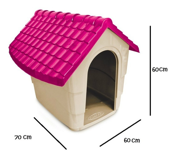 Casa Cama Perro Plast Pet New House No.3 Rosa Envío Gratis
