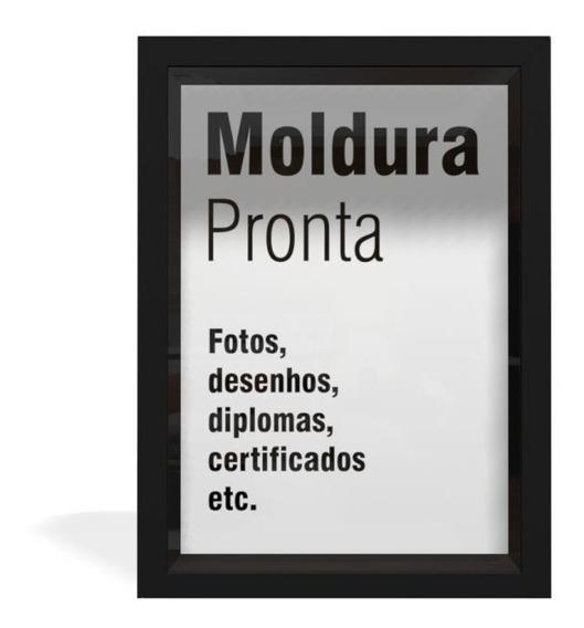 Kit 10 Moldura Quadro 21x30 A4 Diploma Certificado Com Vidro